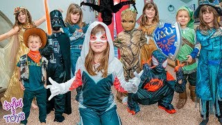 Magic Costume Fashion Show with Kate and Lilly - Superheroes, Ninjas, and More!