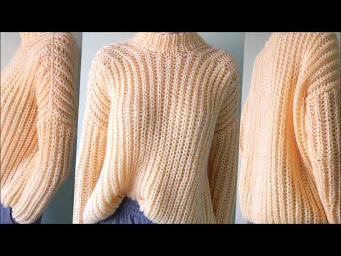Как связать резинкой спицами свитер