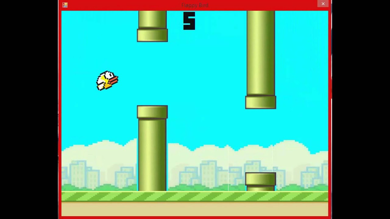 My Version Of Flappy Bird Created In Visual Basic Windows Forms ...