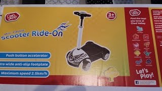 Chad valley Mini Electric Scooter Ride-on review