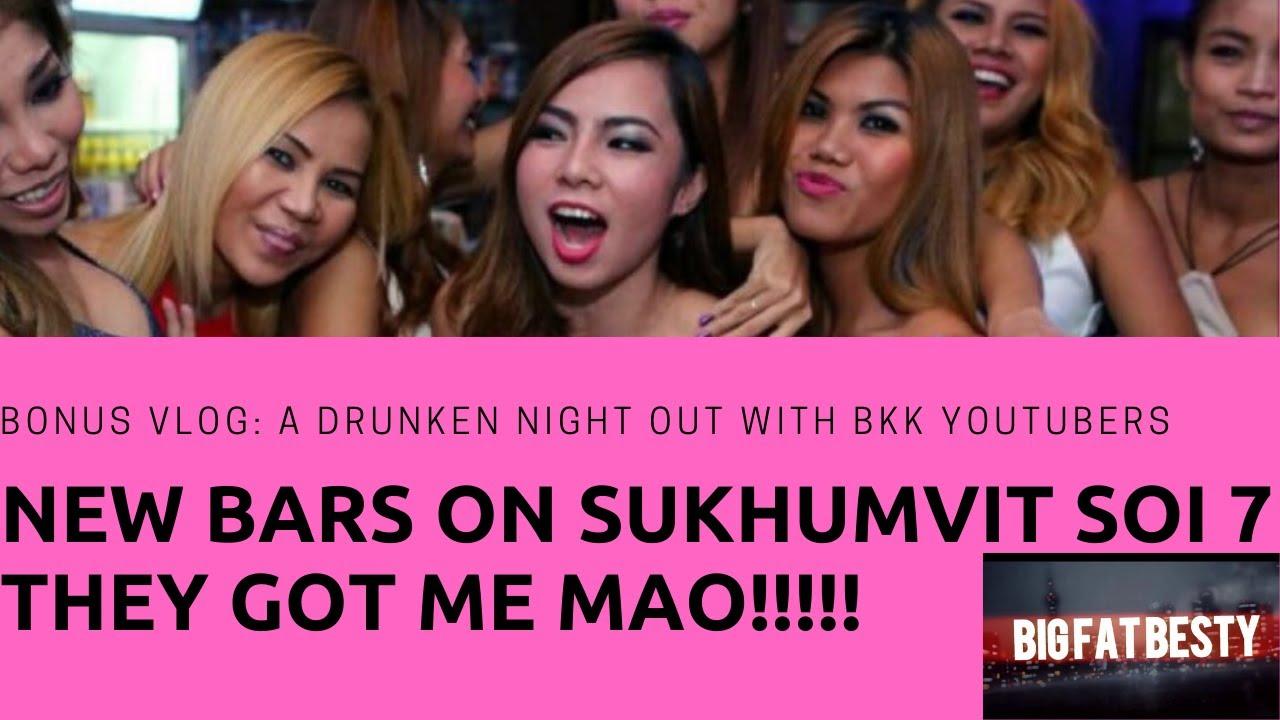 Bonus footage: Bangkok youtubers got me drunk: New bars on sukhumvit soi 7.
