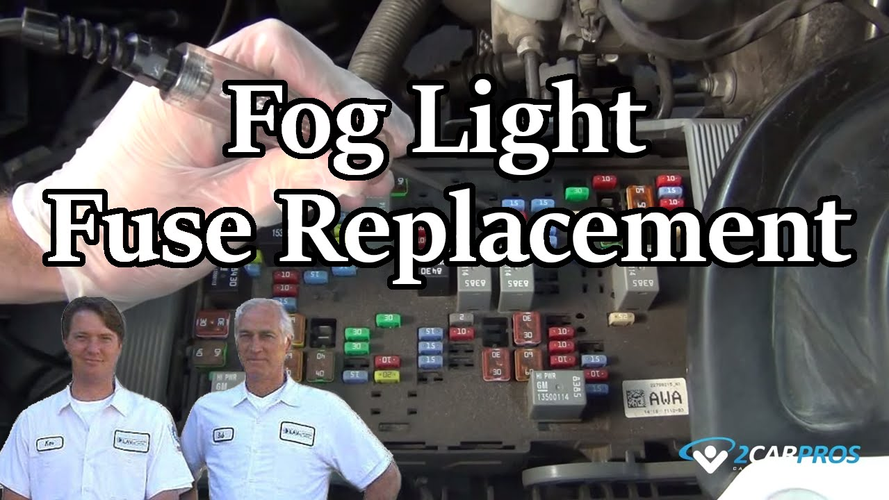 Fog Light Fuse Replacement Youtube 2007 Gmc Sierra Box