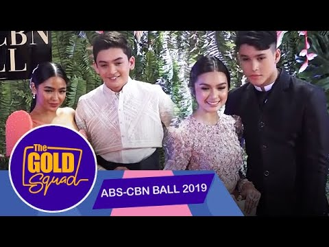 THE GOLD SQUAD WALKS THE ABS-CBN BALL RED CARPET   The Gold Squad