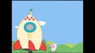 Мультик для детей Свинка Пеппа Кенди Джордж в космосе. Ракета.  Peppa Pig in BabyTV