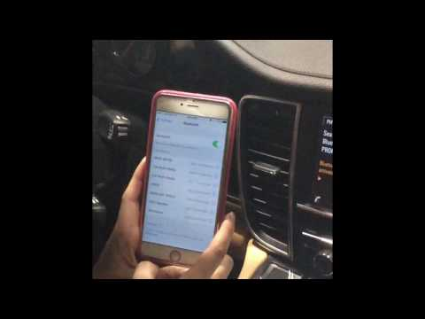 How to Connect to Bluetooth on your 2013 Porsche Panamera with Navigation