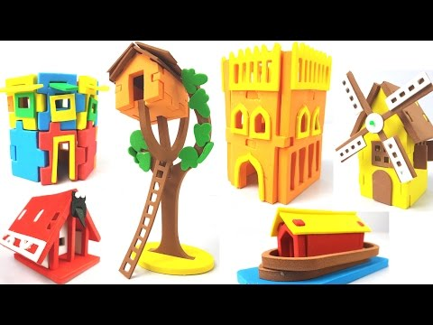 DIY Making 3D Houses for Kids |13 Types of Houses from all Over World | Craft House for Children