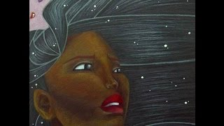 Pocahontas black paper Speed Paint