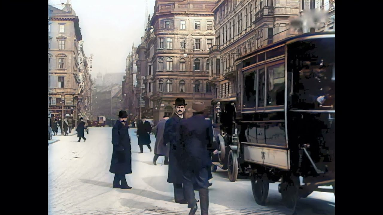Download Fabulous Vienna (Wien) between ca. 1905 and 1915 in color! [A.I. enhanced & Colorized]
