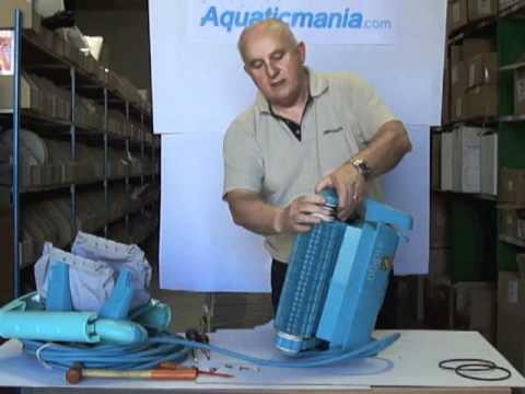 D montage courroies robot indigo youtube for Robot piscine zodiac indigo