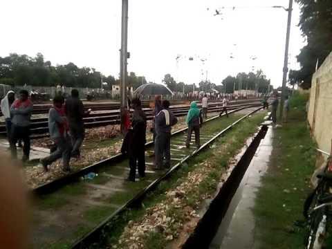 Telgo train crossing gangapur city