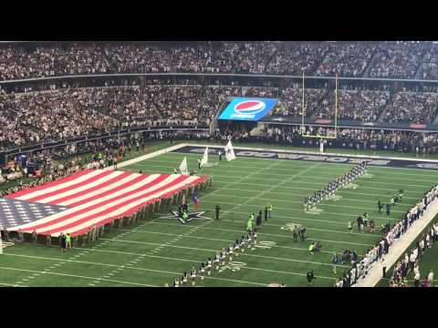 National Anthem by Freddie Jones Dallas Cowboys VS Green Bay Packers 10.8.17