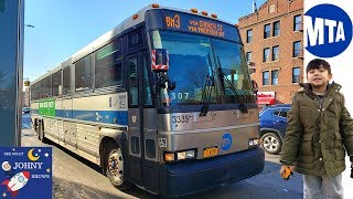 Johny's MTA Bus Ride BM3 Express Brooklyn to Manhattan