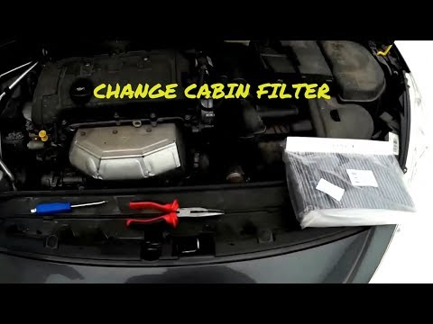 Peugeot 308 How To Replace Cabin Filter