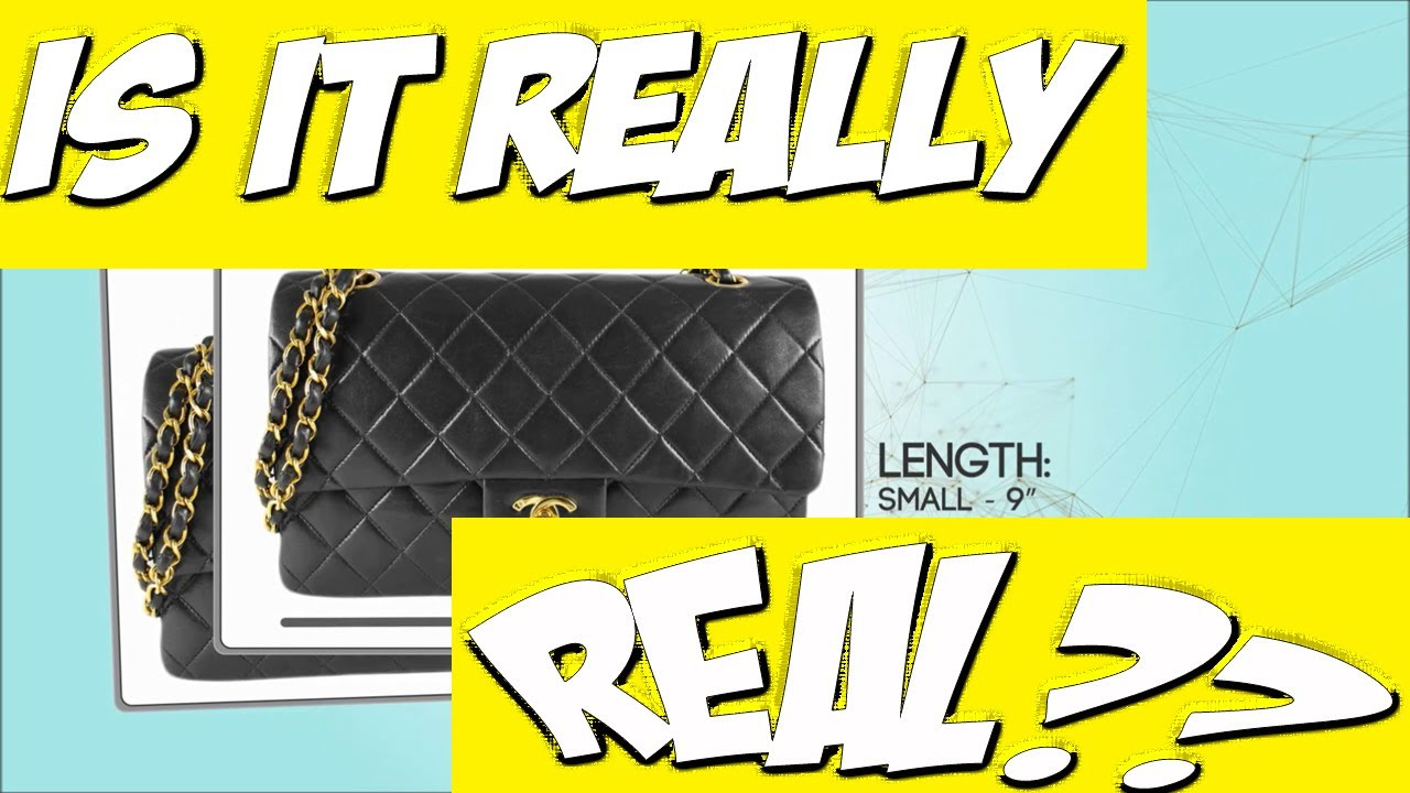 How To Spot a Real (not FAKE) CHANEL 2.55 Classic Flap Bag REVIEW ... cbce4c47208f8