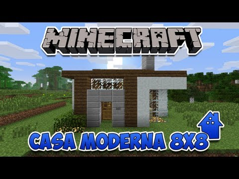 Minecraft i peque a casa moderna 10x10 doovi for Casa moderna 6x6