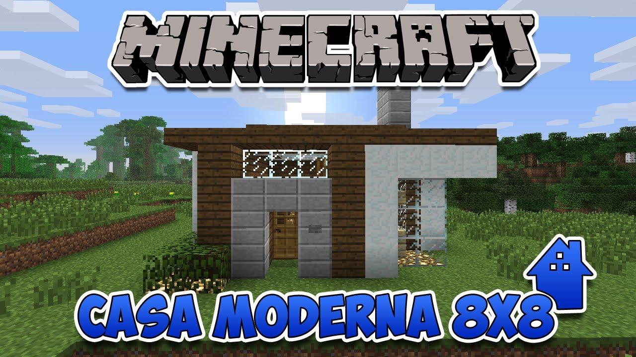 minecraft desafio da casa moderna 8x8 youtube