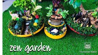 Zen garden #beautiful miniature garden# DIY zen garden # mini zen garden.