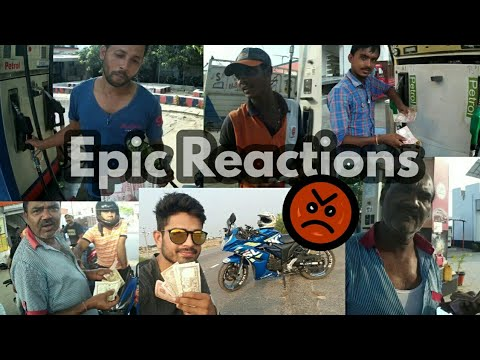 Giving Nepali Money at Indian Petrol Pumps | Epic reactions