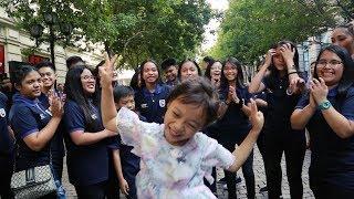 Corpus Christi School Falsettos Flash Mob at Pedestrian Street, Harbin