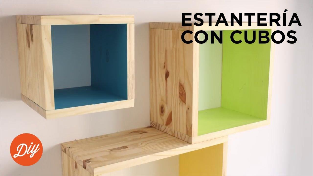 Idea diy crea una estanter a con cubos con black decker - Estanterias de pared infantiles ...