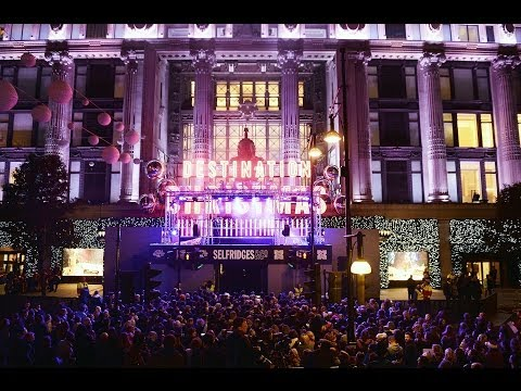 Oxford Street Christmas Lights Show at Selfridges 2013