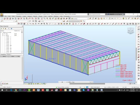 Robot Structural 2021   Designing and Analysis of Steel & RCC Structures (Part 1-3)