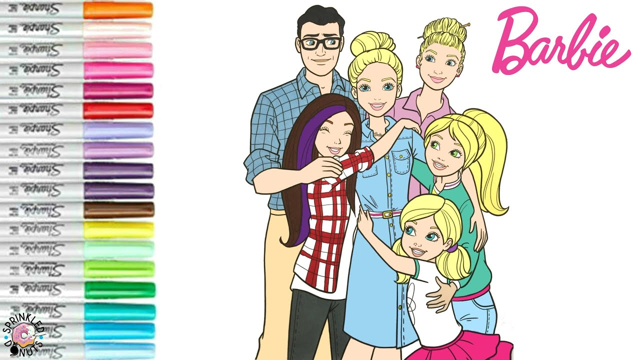 Barbie And Friends Coloring Book Page Barbie Skipper Stacie Chelsea George Margaret Roberts Youtube