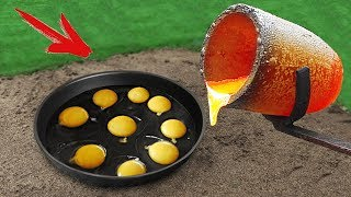 Experiment: Fried Eggs on Lava