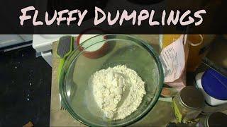 Homemade Fluffy Drop Dumplings || How to make EASY Dumplings