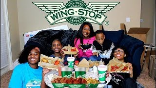 WING STOP MUKBANG WITH MY KIDS!