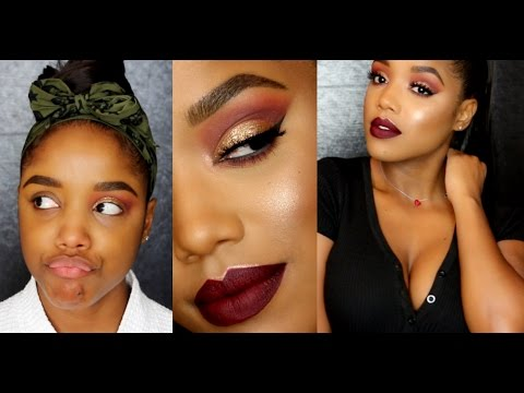 Holiday Fall Glitter Glam (Thanksgiving Inspired) Makeup Tutorial