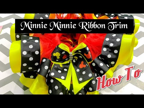 Minnie Mouse Ribbon Trim Tutu| How I Make My Ribbon Trim Tutu|