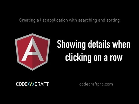 Showing details when clicking on a row - S02 EP03 - Creating a list application with searching