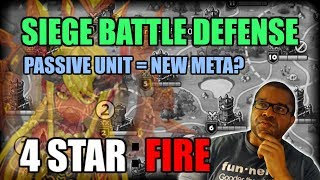 SIEGE BATTLE : BEST FIRE MONSTERS WITH PASSIVES FOR 4 STAR SIEGE DEFENSE!