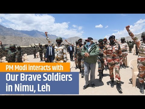 PM Modi Addresses Indian Armed Forces In Leh, India |  3rd July 2020 | PMO