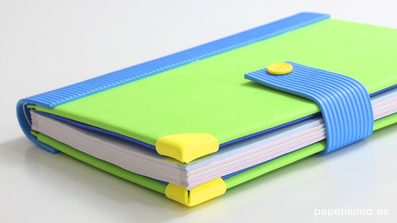 Libretas Decoradas Con Goma Eva Diy Notebooks Youtube - Fotos-de-goma-eva