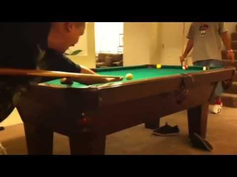 Jojo and Bobby playing pool