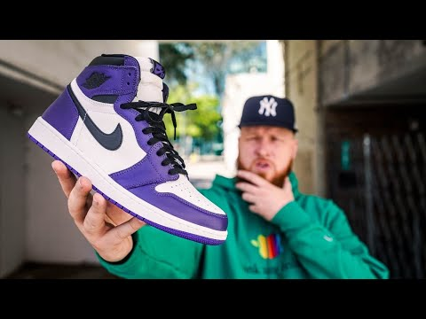 HOW GOOD ARE THE JORDAN 1 COURT PURPLE?! (Early In Hand Review)