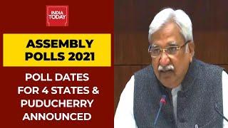 2021's Most Awaited Election Dates Of Bengal, Assam, Kerala, Tamil Nadu, Puducherry Announced
