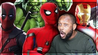 SPIDER-MAN in REAL LIFE (ft. IRON MAN, DEADPOOL and HULK) | REACTION!!!