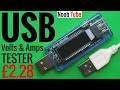 USB 1, 2, 3 Volts Amps Tester 18650 Power Bank MAH Charger Voltage Current Smartphone Volt Amp Meter