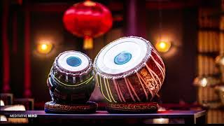 TABLA & HANG DRUM YOGA MUSIC 》Positive Energy Music with Gentle Rain Sounds