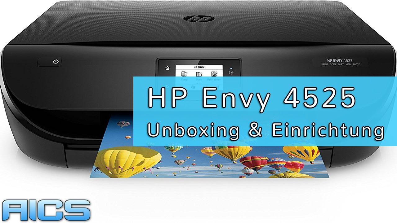 HP Envy 4525 Unboxing & Einrichtung