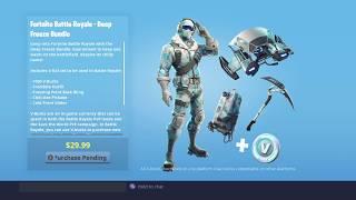 Buying Deep Freeze Bundle! Fortnite: Battle Royale