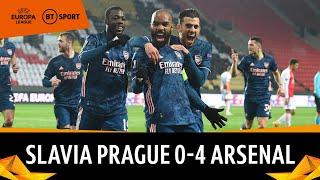 Slavia Prague vs Arsenal (0-4) | Lacazette Makes A Statement In Prague | Europa League Highlights