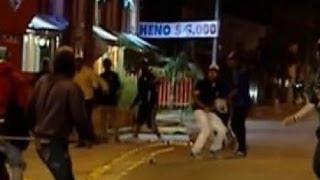 Repeat youtube video En defensa propia: cámara de seguridad registró muerte de hincha del Atlético Nacional