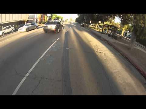 Riding down Ventura Blvd