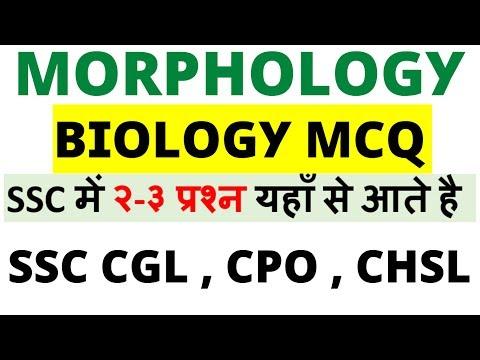Morphology MCQ - Biology Part (SSC में २-३ प्रश्न यहाँ से आते है )