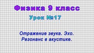 Физика 9 класс (Урок№17 - Отражение звука. Эхо. Резонанс в акустике.)