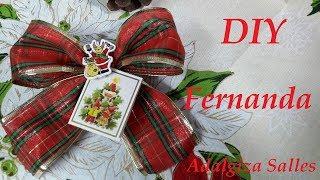 DIY – Laço porta cartão de Natal por Adalgiza Salles